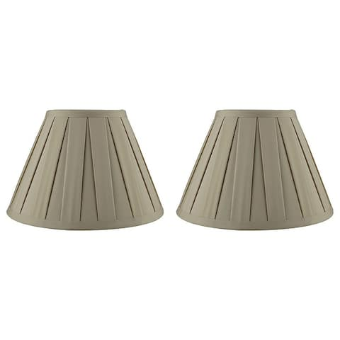 Empire Box Pleat Lamp Shade, 5 inch Top, 10 inch Bottom, 7 inch Slant