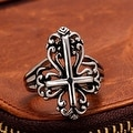 Vienna Jewelry The Cross Emblem Design Stainless Steel Ring - Thumbnail 1