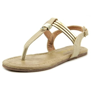 Kensie Girl Embellished T-Strap Sandal Youth Synthetic Nude Thong Sandal