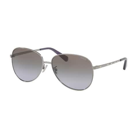 Coach HC7094 90044Q 60 Gunmetal Woman Irregular Sunglasses