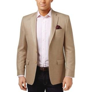 Lauren Ralph Lauren Mens Classic Fit Neat Wool Sportcoat 44 Long 44L Tan Jacket