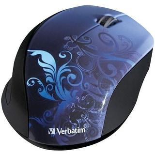 Verbatim VER97785B Verbatim Wireless Optical Design Mouse, Blue 97785