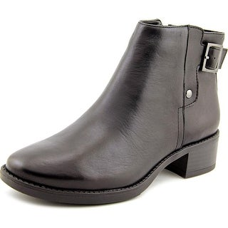Easy Spirit Novara Women Round Toe Leather Black Ankle Boot