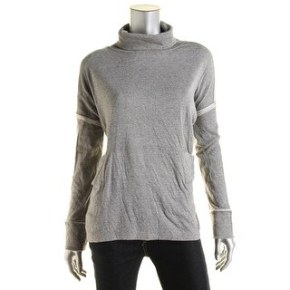 Free People Womens Long Flight Pullover Sweater Heathered Cowl Neck