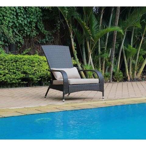 Pentana Resin Wicker Outdoor Lounge Chair with Cushions