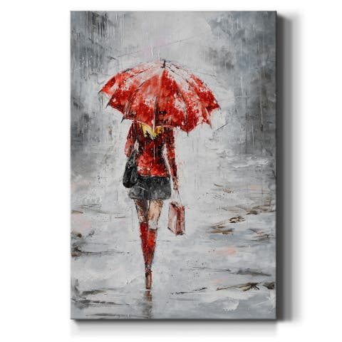 City Shopping III-Premium Gallery Wrapped Canvas - Ready to Hang