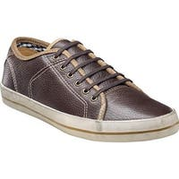 Florsheim Men's Flash Plain Toe Sneaker Brown Milled Leather