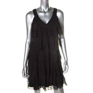 SL Fashions Womens Sheer Sleeveless Wear to Work Dress - 8