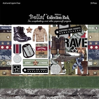 """Bella! Collection Pack 12""""X12""""-Military"""