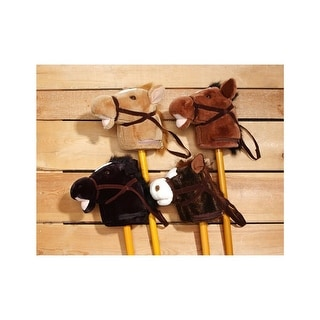 Gift Corral Toy Plush Stick Horse Whinnying Galloping Sound 87-9702