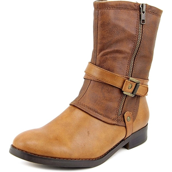 Baretraps Ferne Women Round Toe Synthetic Brown Mid Calf Boot