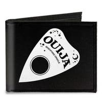 Ouija Planchette Black White Canvas Bi Fold Wallet One Size - One Size Fits most