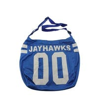 Get Ready Girls Womens Kansas Jayhawks Hobo Handbag Tricot - MEDIUM