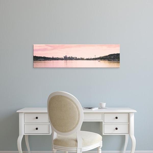 Easy Art Prints Panoramic Images's 'Gas Works Park, Seattle, Washington State, USA' Premium Canvas Art