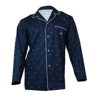 Nautica Men's Logo Print Pajama Shirt (S, Maritime Navy) - S