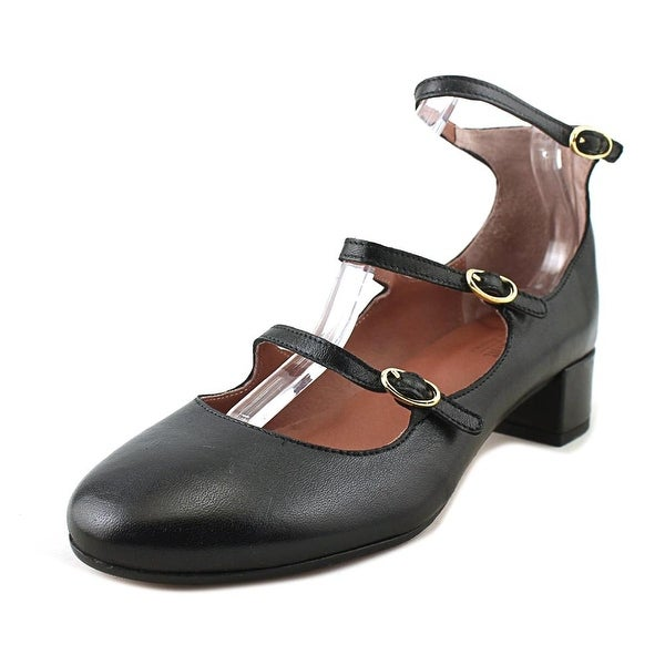 Summit White Mountain Myrlie Women Round Toe Leather Black Mary Janes