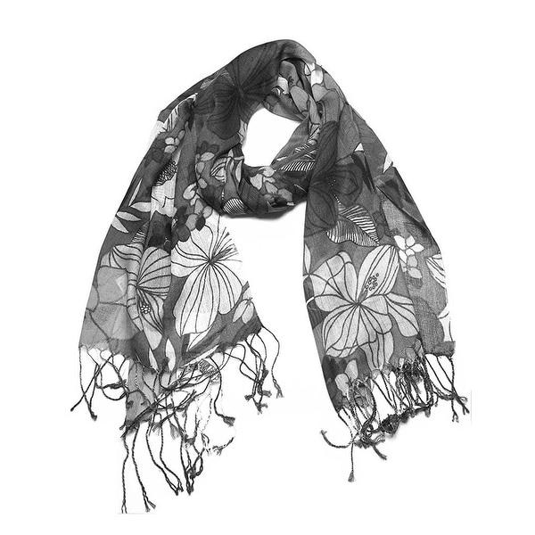 Women's Fashion Floral Soft Wraps Scarves. Opens flyout.