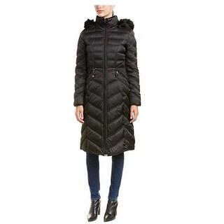 Laundy by Shelli Segal Black Puffer Maxi Coat