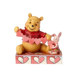 """Pooh and Piglet Heart 5.5"""" Figurine"""