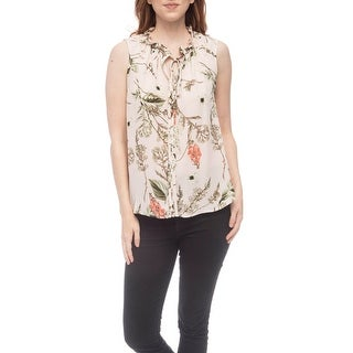 Shop Bobeau Dahlia Flower Printed Blouse - Free Shipping Today - Overstock - 25639829