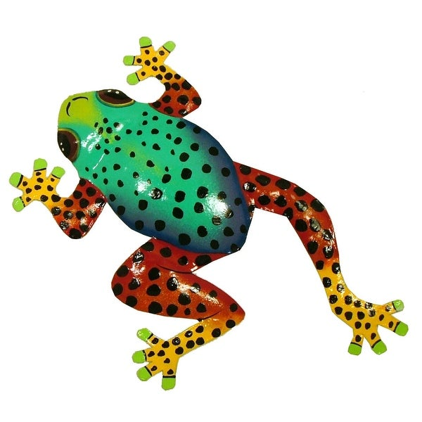 Shop Tropical Tree Frog Tiki Decor Haitian Metal Spotted 13 Inch ...