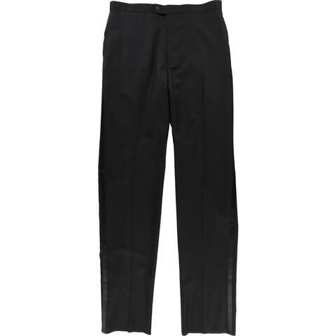Alfani Mens Texudo Dress Pants Slacks, Black, 30W x UnfinishedL