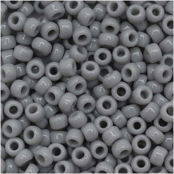Toho Round Seed Beads 8/0 53 'Opaque Gray' 8 Gram Tube