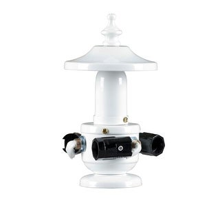 Concord Y-2001-S Light Kit with Three 60 Watt Candelabra Bulbs and Standard White Finial with Cap