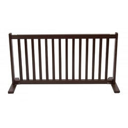 Free Standing Pet Gate - Large/Mahogany
