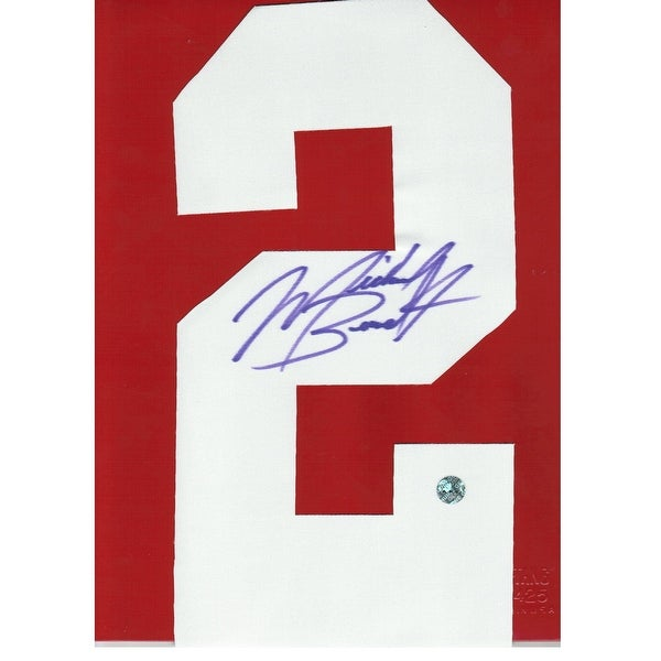 size 40 8811c feeef Michael Bennett Minnesota Vikings Autographed White #2. This item is an  autographed Jersey Number with no matting or backing.