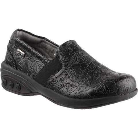 Therafit Women's Annie Slip-On Shoe Black Leather