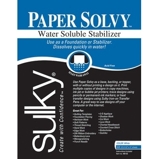 Paper Solvy Water-Soluble Stabilizer