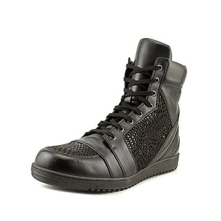 Gareth Pugh Preco Men Leather Black Fashion Sneakers