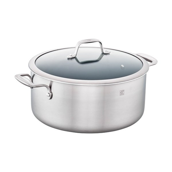 ZWILLING Spirit 3-ply 8-qt Stainless Steel Ceramic Nonstick Stock Pot - STAINLESS STEEL