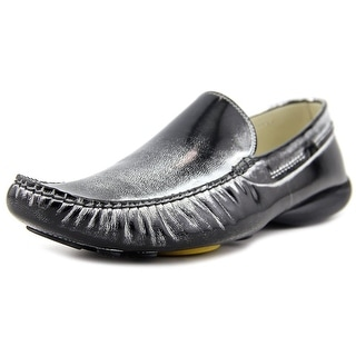Alberto Guardiani Diable 92 Men Moc Toe Patent Leather Black Flats