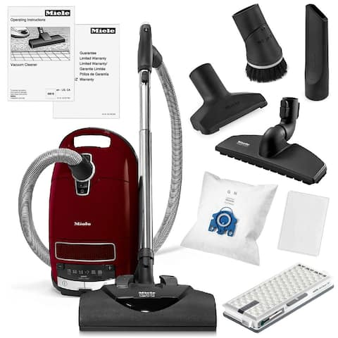 Miele Complete C3 for Soft Carpet Canister Vacuum Cleaner + SEB 228 Electrobrush + SBB300-3 Parquet Twister + More!