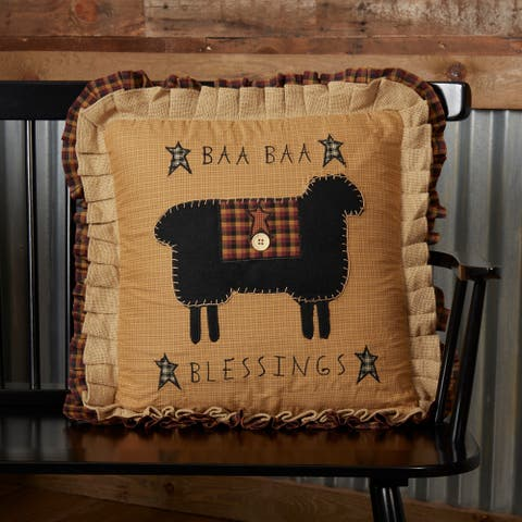 Heritage Farms Baa Baa Blessings Pillow 18x18