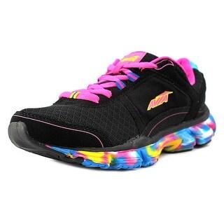 Avia Play Youth Round Toe Synthetic Black Running Shoe