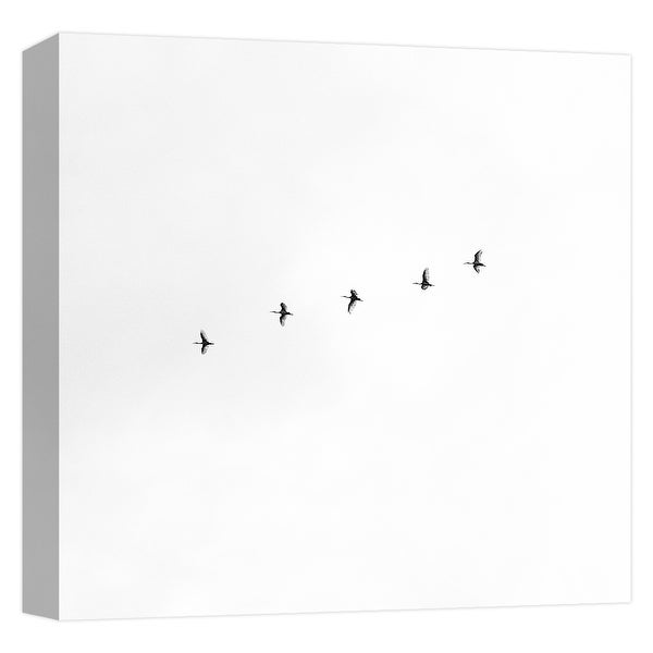 "PTM Images 9-124710 PTM Canvas Collection 12"" x 12"" - ""Birds Migration"" Giclee Geese Art Print on Canvas"