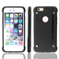 Plastic Back Bumper Cell Phone Protective Hard Case Cover Black for iPhone 6S