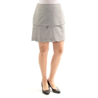 Womens Gray Casual Skirt Size 7