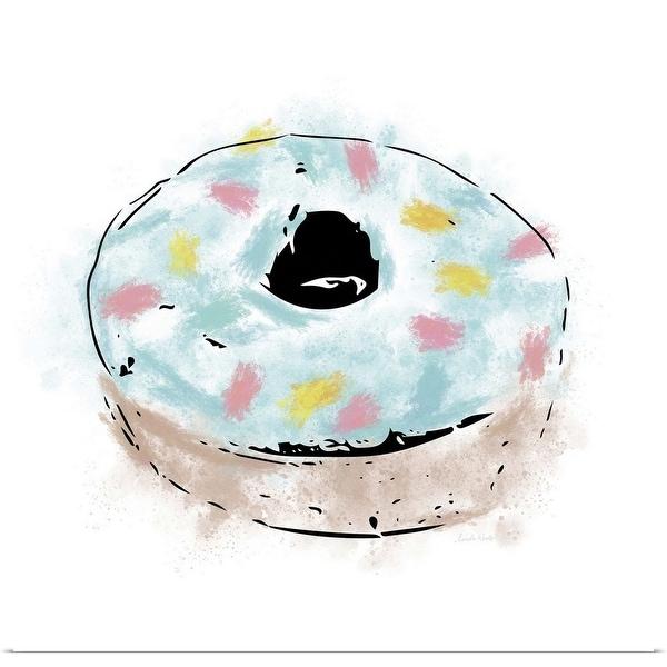 """Blue Sprinkle Donut"" Poster Print"