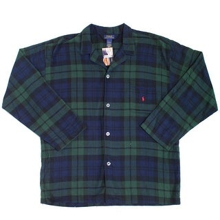 Polo Ralph Lauren NEW Green Mens Size XL Plaid Long Sleeve Nightshirt