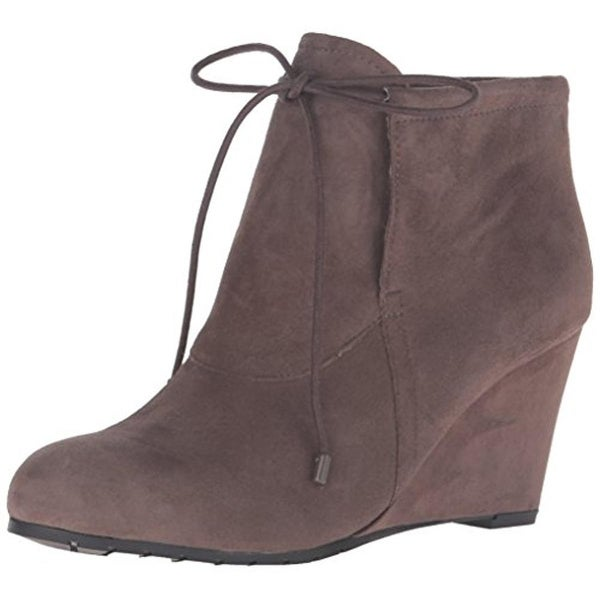 Easy Spirit Womens Caterina Wedge Boots Suede Ankle