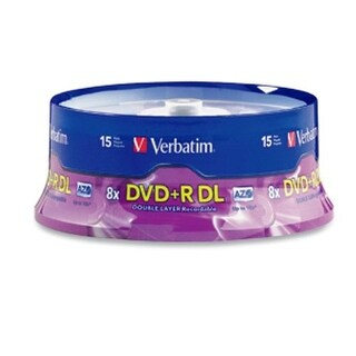 """Verbatim N71130M Verbatim DVD+R DL AZO 8.5 GB 8x-10x Branded Double Layer Recordable Disc, 15-Disc Spindle 95484"""