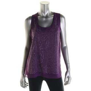 Rebellious One Womens Juniors Casual Top Studded Sleeveless - S