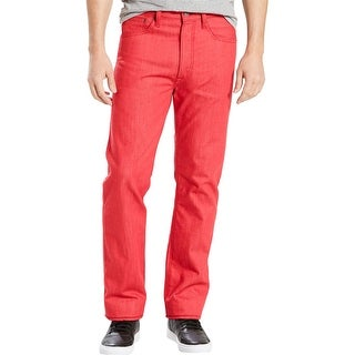 Link to Levi's Mens 501 Straight Leg Jeans, Red, 30W x 32L Similar Items in Pants