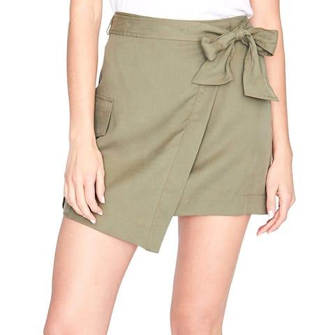 Rachel Rachel Roy Utility Pocket Wrap Skirt Army Green