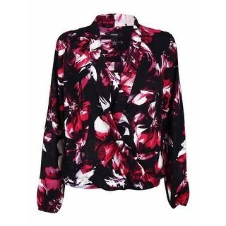 Alfani Women's Printed Surplice Crepe Blouse (6, Brush Bloom Red) - brush bloom red - 6
