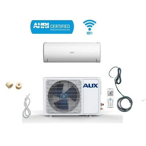 AUX 36000 BTU MINI Split Ductless Air Conditioner 230V 12Ft WiFi White